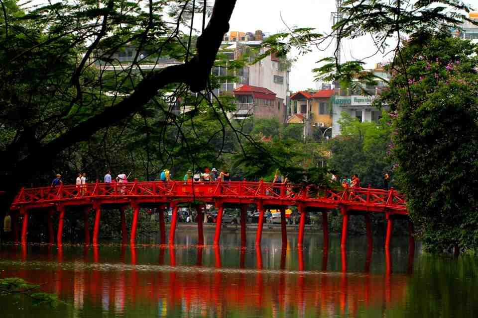The Huc Bridge Hoan Kiem Lake